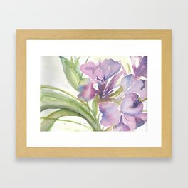 soft focus Framed Art Print