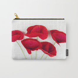 a Bunch Of Red Poppies Carry-All Pouch