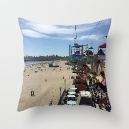 Santa Cruz Beach Boardwalk April 26, 2015 Throw Pillow