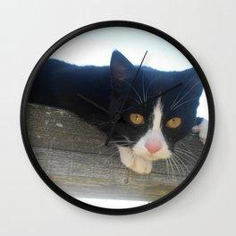Sun Tuxedo Wall Clock