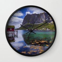 Lofoten islands landscape Wall Clock