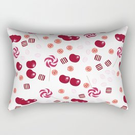 Candy lollipops of cherry Rectangular Pillow