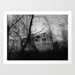 horror barn Art Print