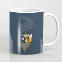 sad Mugs featuring Fox Tea by Freeminds