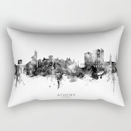 Athens Georgia Skyline Rectangular Pillow