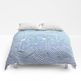 Never-ending Blue Comforters