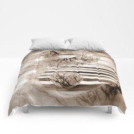 Yin Yang softness and sepia Comforters
