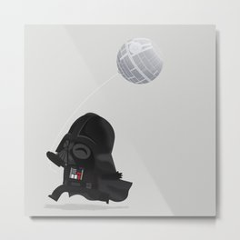 Beware, the Darth Star Metal Print