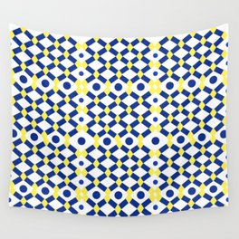 Moroccan Inspired Tile Pattern Wall Tapestry