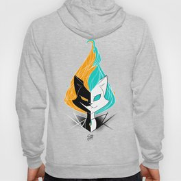 Nightmare/ScribbleNetty (Orange/Turquoise) Hoody