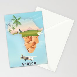 Africa travel poster Stationery Cards