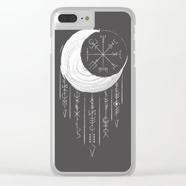 Moon dreaming Clear iPhone Case