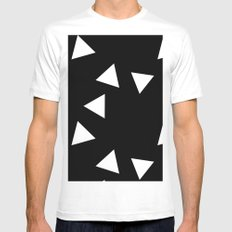 The Triangles MEDIUM White Mens Fitted Tee