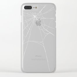 Spiderweb Clear iPhone Case
