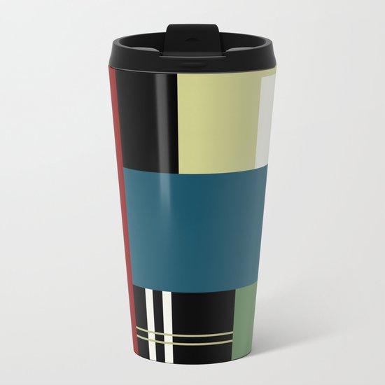 GEOMETRIC ABSTRACT Metal Travel Mug
