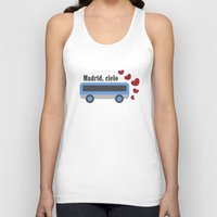 madrid Tank Tops featuring madrid , cielo by skip ad