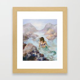 The Lonely Tidal Pool Framed Art Print
