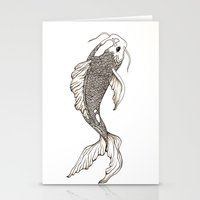 koi fish Stationery Cards featuring Koi Fish  by nikart