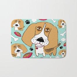 Beafus the Bad Boy Beagle Bath Mat