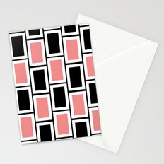 Black and Pink Bricks Stationery Cards