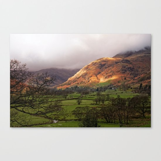 Morning Over Langdale Canvas Print