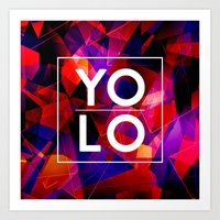 sayings Art Prints featuring Dreams of YOLO Vol.2 by HappyMelvin
