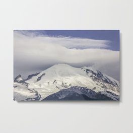 Mountain Top of Mt Rainier Metal Print