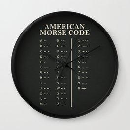 American Morse Code Wall Clock