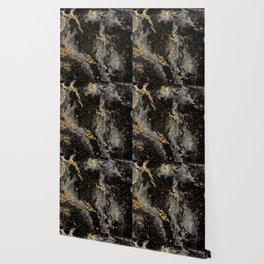 Galaxy (black gold) Wallpaper