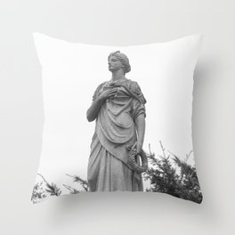 Hand on Her Heart Throw Pillow