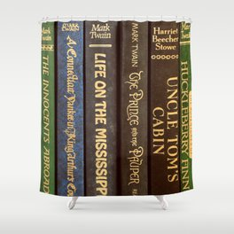 Old Books - Square Twain Shower Curtain