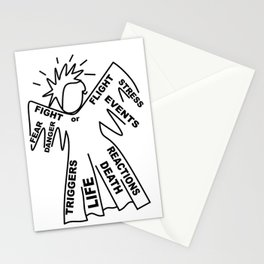 Anxiety Angel - Zine Art - Doodle Stationery Cards