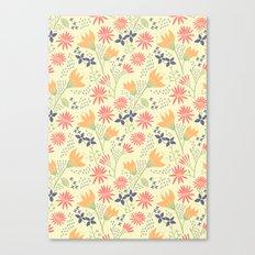 Autumn Floral Pattern Canvas Print