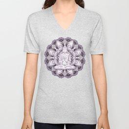 Black Mandala Unisex V-Neck