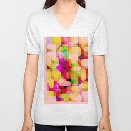 Re-Created Laurels X by Robert S. Lee Unisex V-Neck