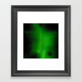 Green Goo Smear Framed Art Print