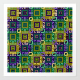 Geometric pattern #023 Art Print