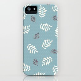 Falling Leaves – Blue iPhone Case