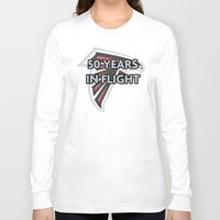 nfl Long Sleeve T-shirts featuring NFL - Falcons 50 Years by Katieb1013