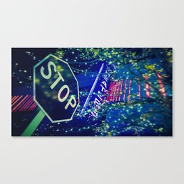 Abstract Night Life Photography Canvas Print