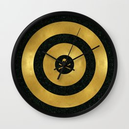 Gold Leaf Target Wall Clock