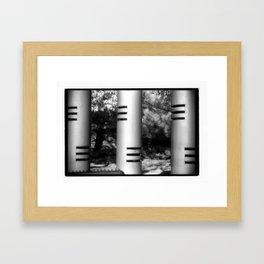 Three Columns Framed Art Print