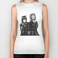 goth Biker Tanks featuring Goth Detectives by Grace Mutton