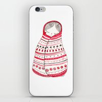 rubyetc iPhone & iPod Skins featuring cuddle up by rubyetc