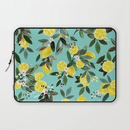 Summer Lemon Floral Laptop Sleeve