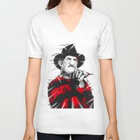 freddy krueger V-neck T-shirts featuring Freddy by Akyanyme
