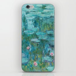 Water lilies by Claude Monet, 1915 iPhone Skin