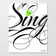 Sing - Apple Green Canvas Print
