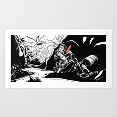 Interstellar Kegger Raid Art Print