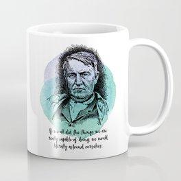 Thomas Edison - Science Portrait - Astound Ourselves Coffee Mug